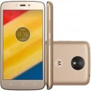 Smartphone Moto C PLUS XT1726 Quad-Core, Android 7.0, Tela 5.0 8GB, 8MP, 4G, Dual Chip Dourado - Motorola
