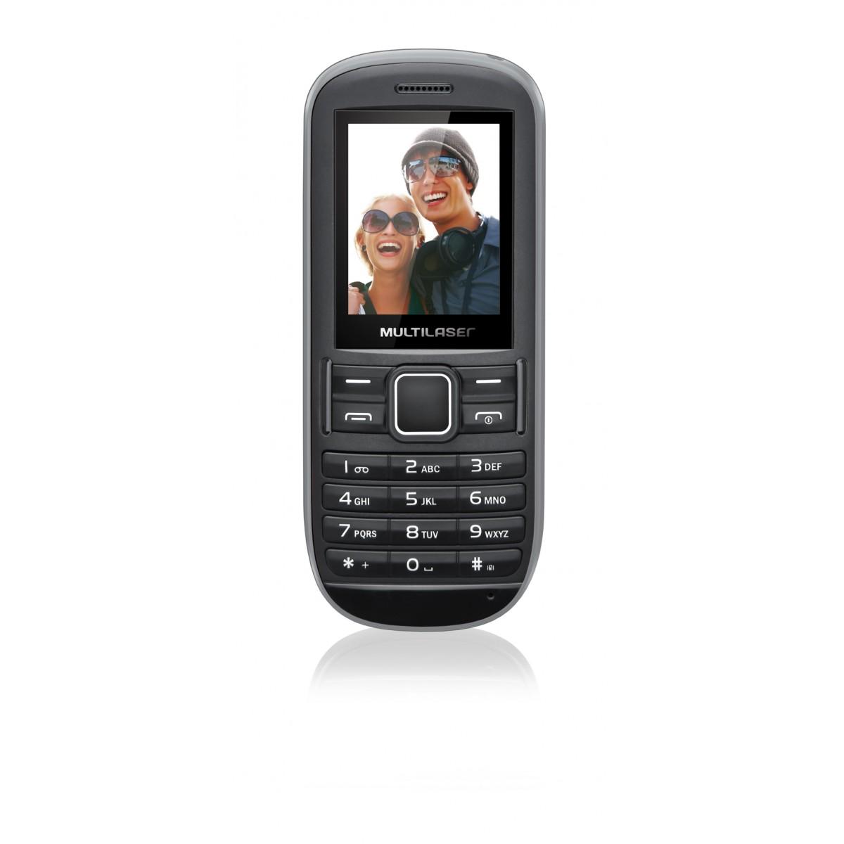 Celular Fun P3201 2 Chips Quadriband Camera MP3/4 FM Cinza/Preto