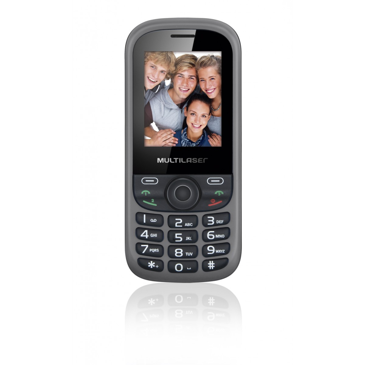 Celular UP P3198 3 Chips Quad MP3/MP4 Cinza