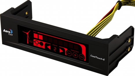 Controlador de Fan Display Cool Touch-E Black EN51547 - Aerocool