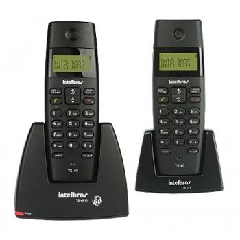 Telefone sem Fio ID + Ramal TS40C Preto - Intelbras