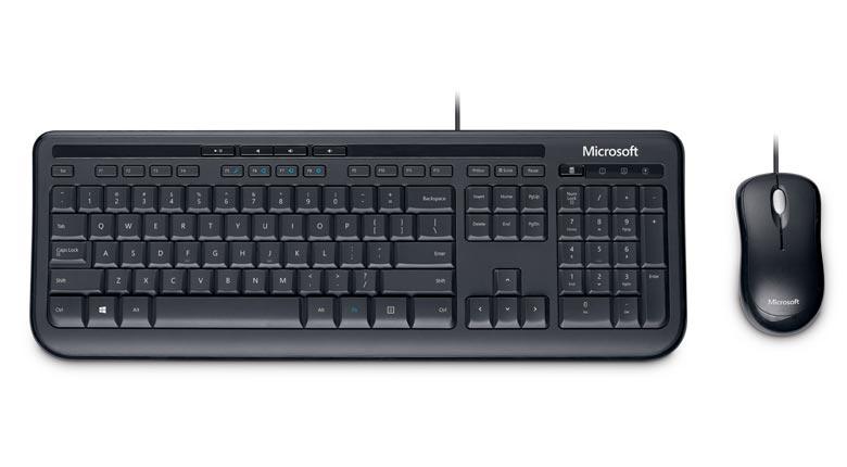 Teclado e Mouse Wired Desktop 600 USB (APB-00005) - Microsoft