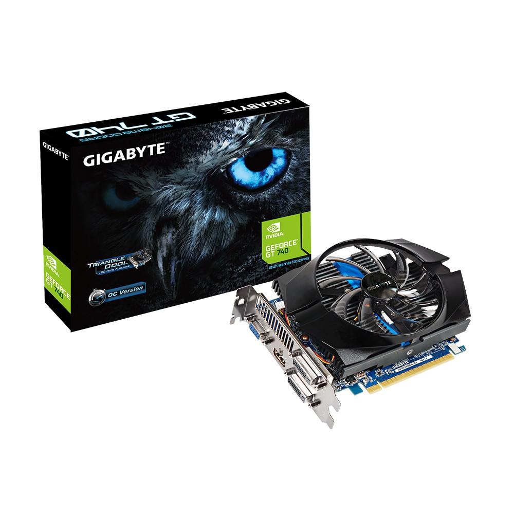 Placa de Video GeForce GT740 2GB DDR5 128Bits GV-N740D5OC-2GI - Gigabyte