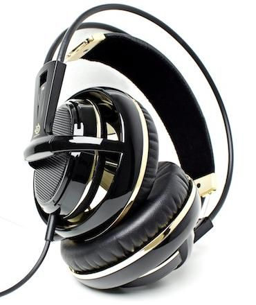 Fone de Ouvido Siberia V2 Black & Gold com Microfone 51110 - Steelseries