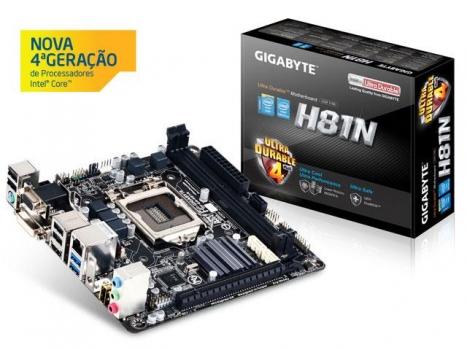 Placa Mãe LGA 1150 GA H81N Mini ITX  S V R Gigabyte