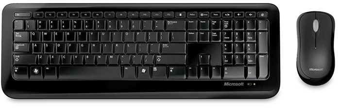 Teclado + Mouse Optico Wireless Desktop 800 2LF-00023 - Microsoft