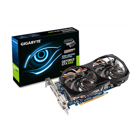 Placa de Video GeForce GTX660 2GB DDR5 192Bits 2Windforce 2x GV-N660OC-2GD - Gigabyte