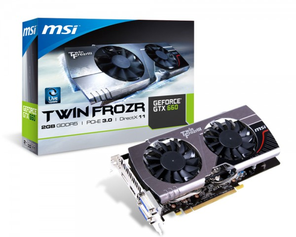 Placa de Video GeForce GTX660 2GB GDDR5 192Bits N660 TF 2GD5 (912-V287-012) - MSI