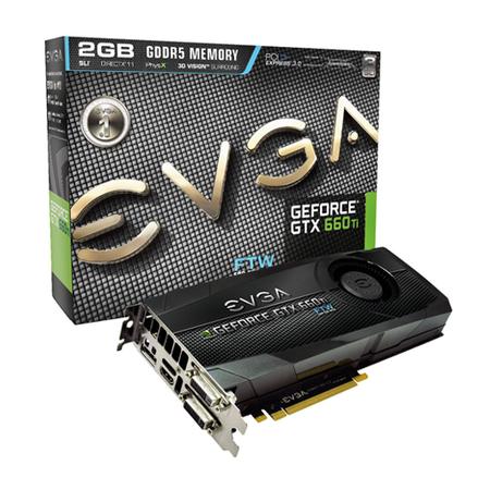 Placa de Video GeForce GTX660TI 2GB DDR5 192Bits FTW 02G-P4-3667-KR - EVGA