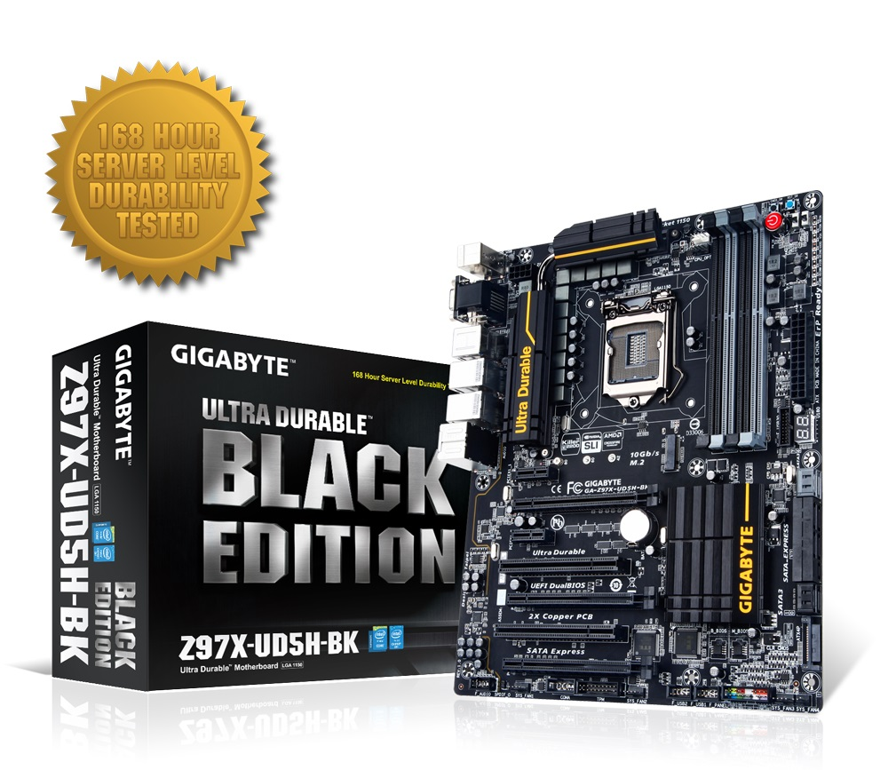 Placa Mãe LGA 1150 GA-Z97X-UD5H-BK Black Edition (S/V/R) - Gigabyte