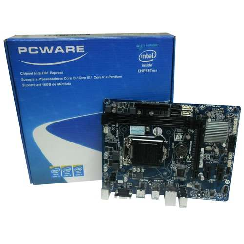 Placa Mãe LGA 1150 IPMH81G1 - PCWARE  - Glacon Informática