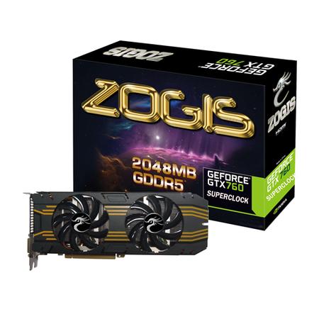 Placa de Video GeForce GTX760 2GB DDR5 256Bits Superclock ZOGTX760-2GD5SC - Zogis