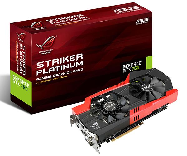 Placa de Video GeForce GTX760 4GB 256Bits DDR5 ROG Striker GTX760-P-4GD5 - Asus