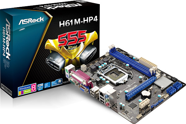 Placa Mãe LGA 1155 H61M-HP4 USB 3.0 (S/V/R) - AS-ROCK