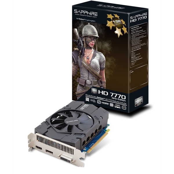 Placa de Video ATI HD7770 1GB DDR5 128Bits 11201-17-20G - Sapphire