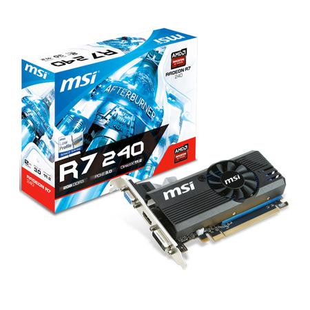 Placa de Video ATI R7 240 2GB DDR3 128Bit 2GD3 LP - MSI
