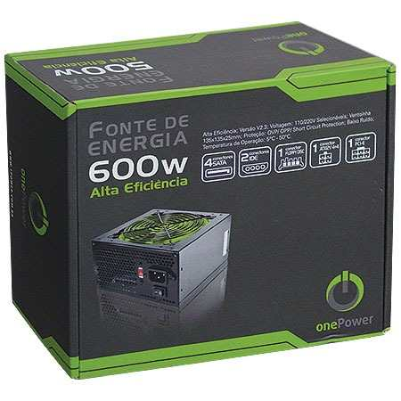 Fonte ATX 600W Real MP600W PFC Passivo - ONE POWER