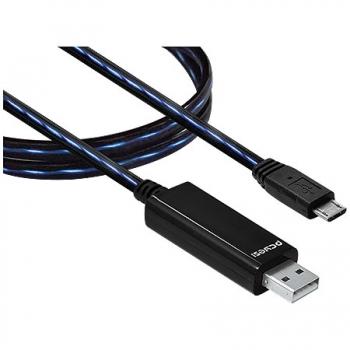 Cabo LED USB Para Micro USB 80cm 20189 Pcyes