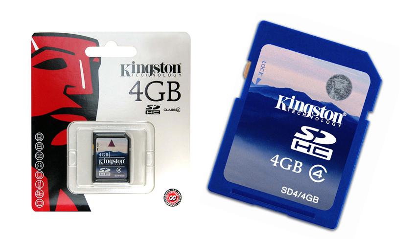 Cartao de Memoria 4GB SDHC Classe 4 Secure Digital SD4/4GB - Kingston