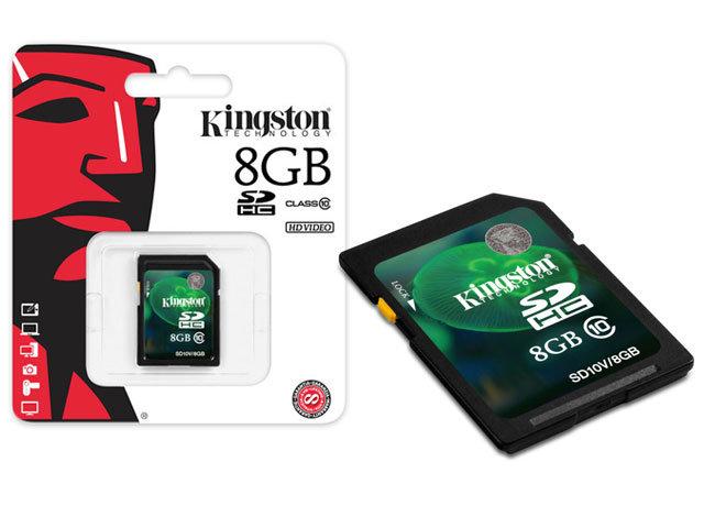 Cartao de Memoria 8GB SDHC Classe 10 Secure Digital SD10V/8GB - Kingston