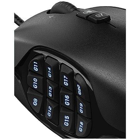 Mouse Gamer G600 MMO Gaming 8200DPI Preto 910-003879 - Logitech