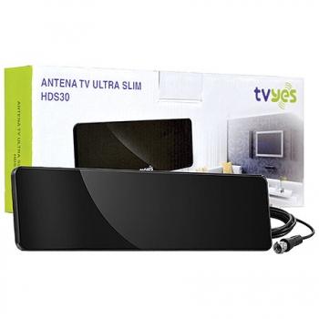 Antena para TV Ultra Slim HDS30 Preta 20992 - TVYES