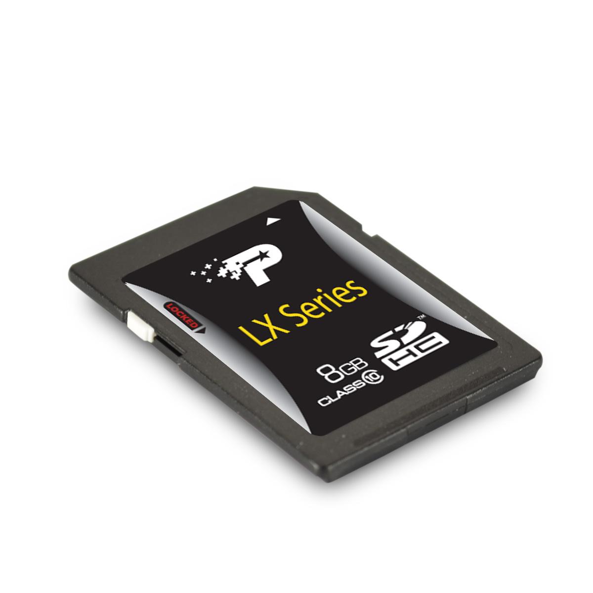 Cartao de Memoria 8GB SDHC Classe 10 LX Series PSF8GSDHC10 - Patriot