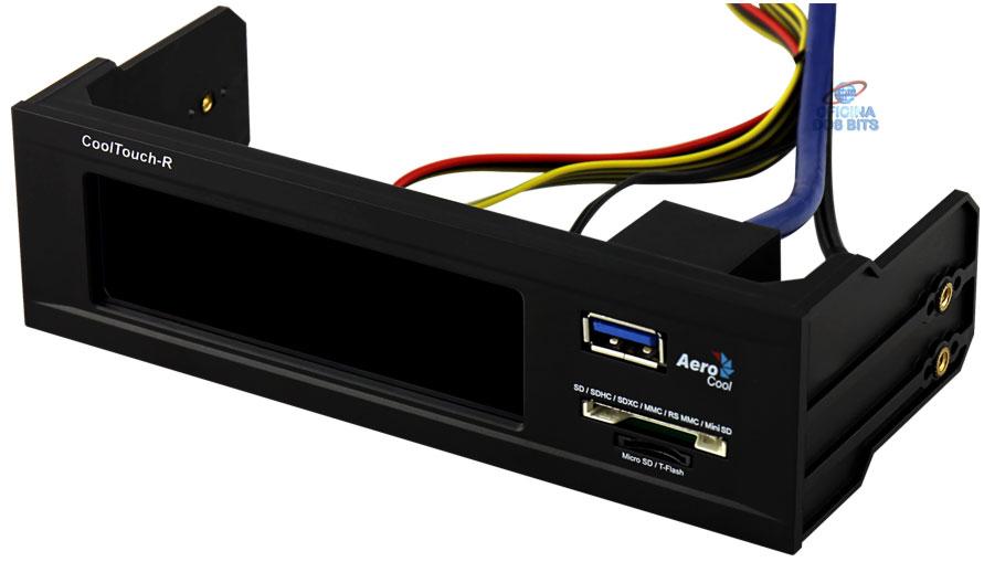 Controlador de Fan Display Cool Touch-R Black EN51544 - Aerocool