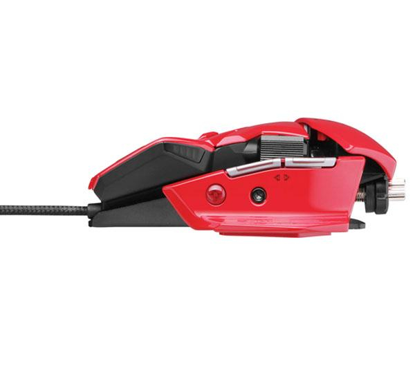 Mouse Gamer Laser Cyborg R.A.T. 5 5600DPI RED (Ajustavel) MCB437050013 - Mad Catz