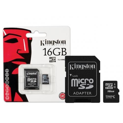 Cartao de Memoria 16GB Micro SDHC Classe 4 SDC4/16GB - Kingston