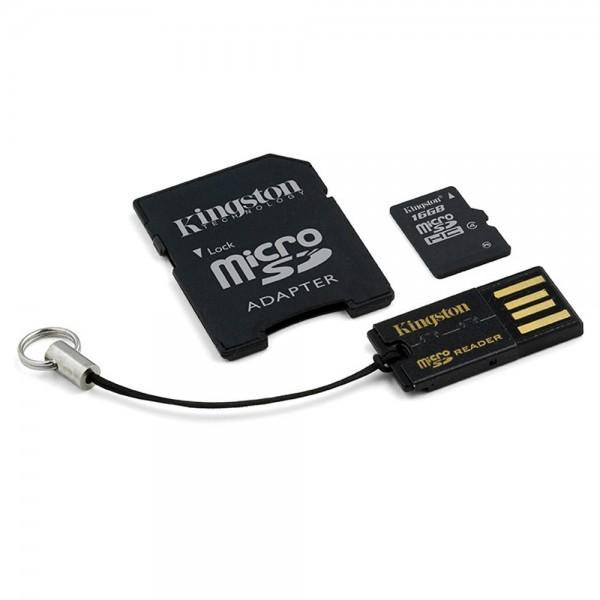 Cartao de Memoria 16GB Micro SDHC Classe 4 com Adpatador SD / USB MBLY4G2/16GB - Kingston