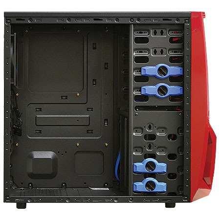 Gabinete ATX Gamer Super Blade 298WR Preto/Vermelho (USB 3.0) sem Fonte - Raidmax