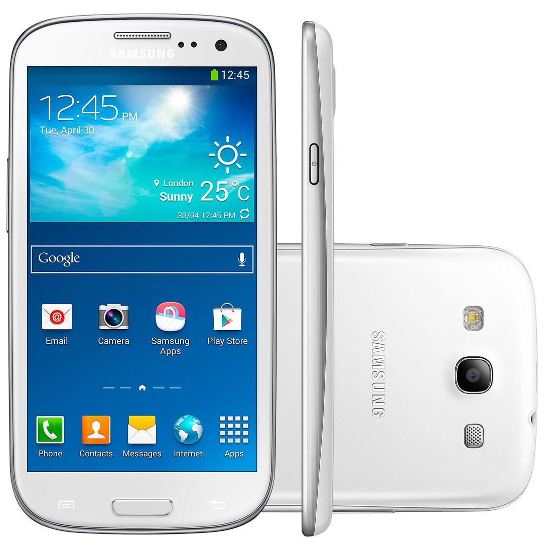 Celular Galaxy SIII Neo I9300I Branco Dual Chip, Android 4.3, Camera 8MP, Tela 4,8, Quad Core 1.4 GHz