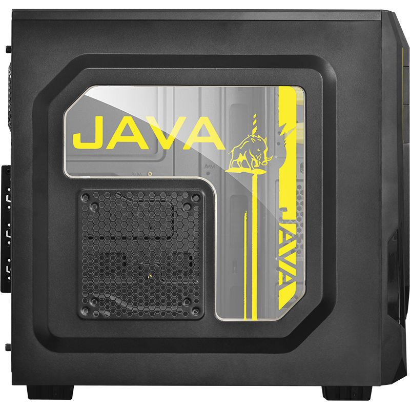 Gabinete ATX Mid Tower JAVA Amarelo 21498 - Pcyes