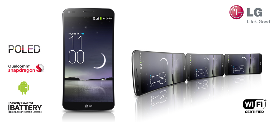 Celular Smartphone Android 4.2, Camera 13MP, Tela Curva 6, Quad Core 2.3GHz, 32GB, 4G, Wi-Fi e GPS - LG