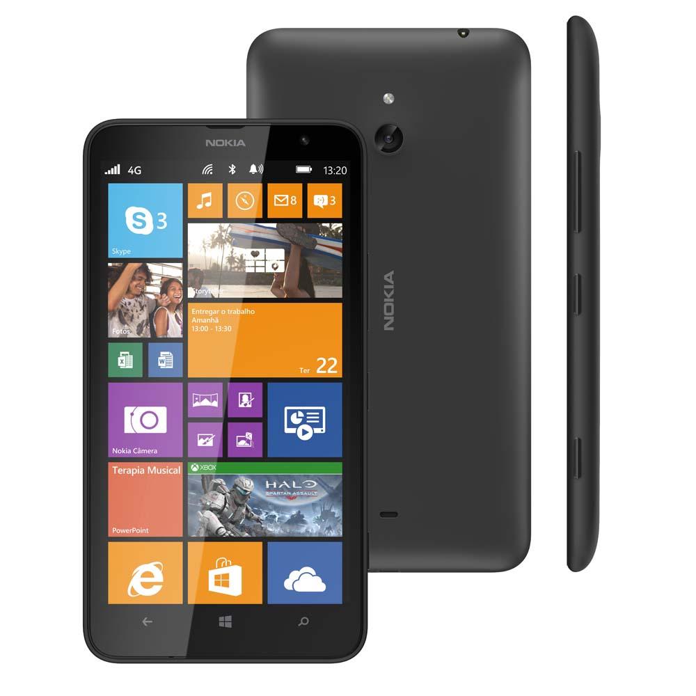 Smartphone Lumia 1320 Desbloqueado Preto, Windows Phone 8, Tela 6, Wi-Fi, 4G, GPS, Camera de 5MP e Memoria interna 8GB