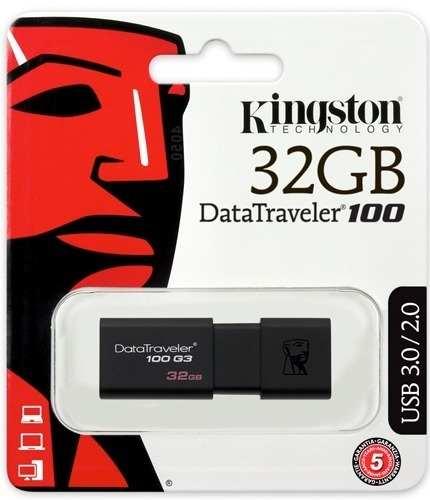 Pen Drive 32GB DT100G3/32GB USB 3.0 Preto - Kingston