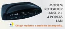 Modem Switch Adsl2+ M004AR 4 Portas Lan 1 Porta Wan - Firewall Router