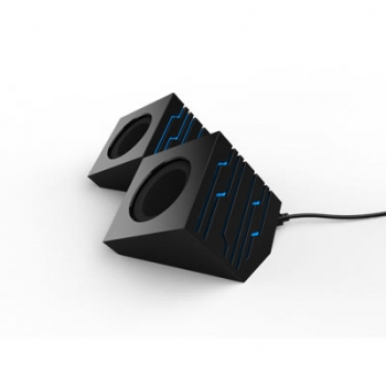 Caixa de Som USB 6W Rms Preta Neon Azul (SPK-S700/BK)-MYMAX