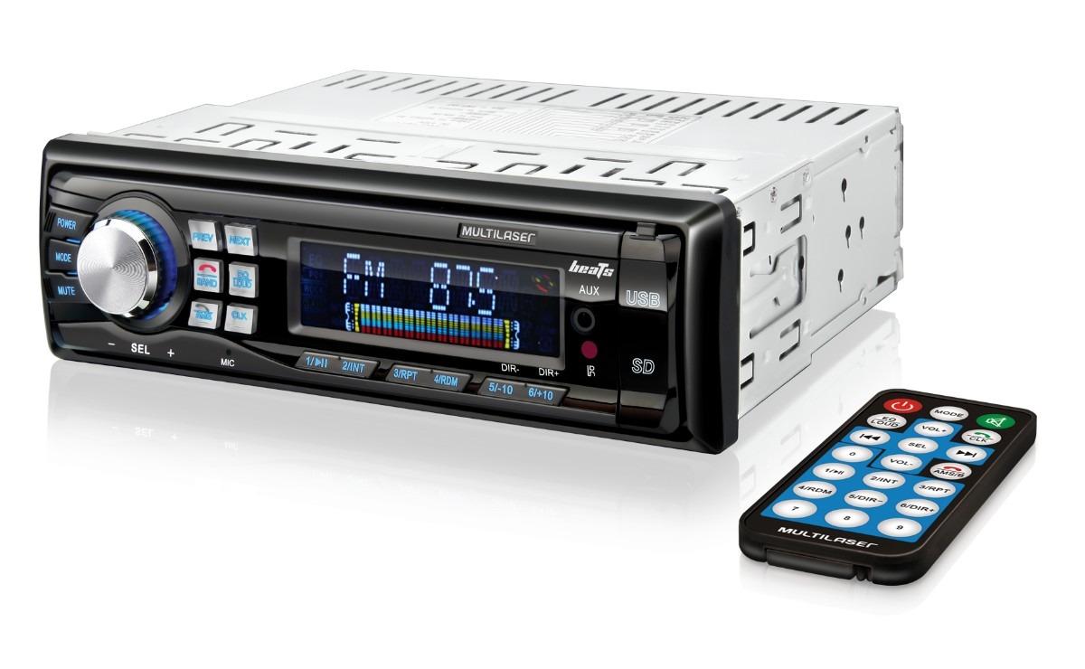 Som Automotivo com Leitor USB-SD Beats P3209 - Multilaser