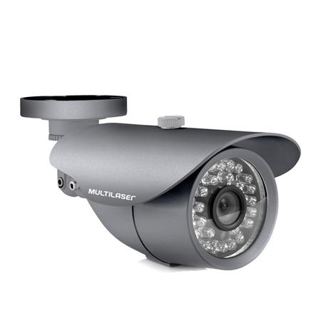 Câmera Externa Sensor Sony CCD 1/3 Infravermelho 25m Anti Vandalismo SE003 Cinza