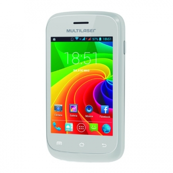 Smartphone MS2 Dual Chip, Android, Câmera 3MP, Tela IPS 3.5´ P3291 Branco - Multilaser