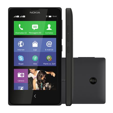 Smartphone Nokia X Dual Chip 4GB Android Desbloqueado  Preto - Nokia