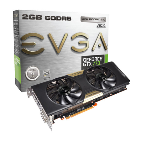 Placa de Vídeo Geforce GTX770 2GB DDR5 256Bits 02G-P4-2773-KR - EVGA