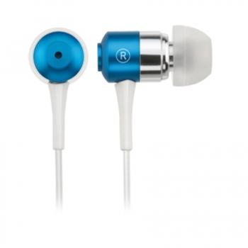 Earphone Metálico Azul C/Plug de Silicone PH048
