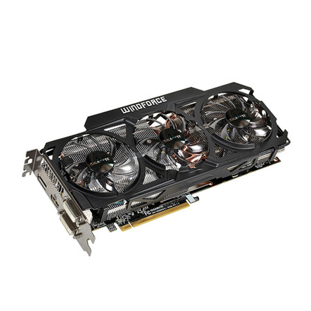 Placa de Vídeo ATI R9 290X 4GB OC Windforce3X DDR5 512Bits GV-R929XOC-4GD - Gigabyte