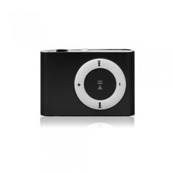 Super Mini MP3 Player com Entrada de Cartão MicroSD ( Preto )