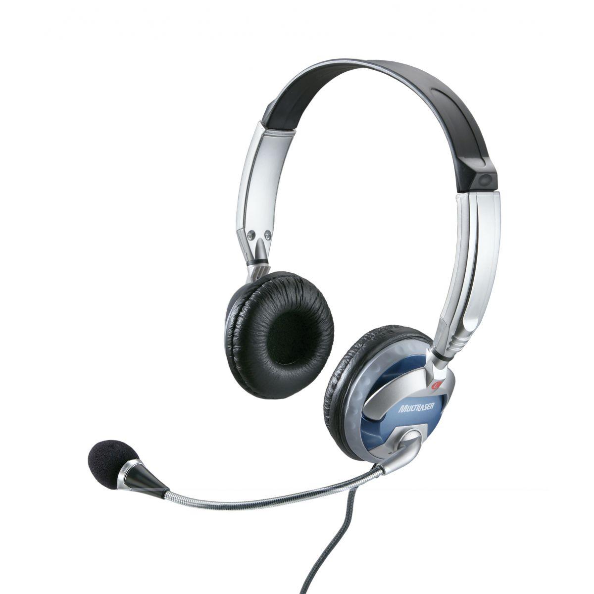 Fone de Ouvido Profissional Prata PH026 - Multilaser