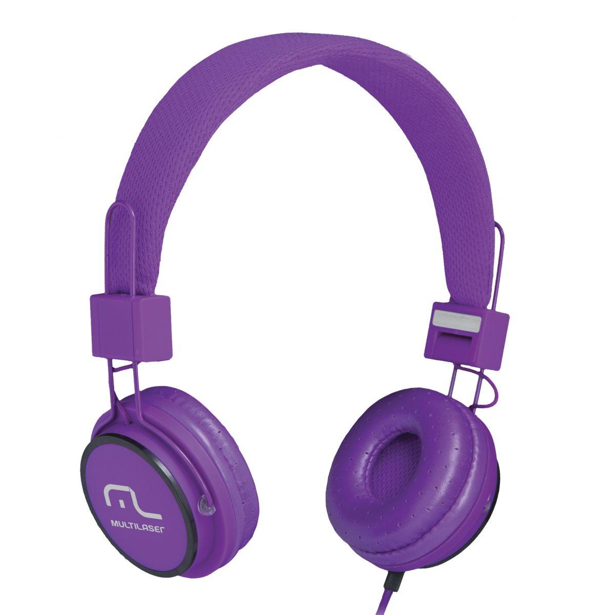 Fone HeadFun - Microfone para Celular Roxo PH090 - Multilaser