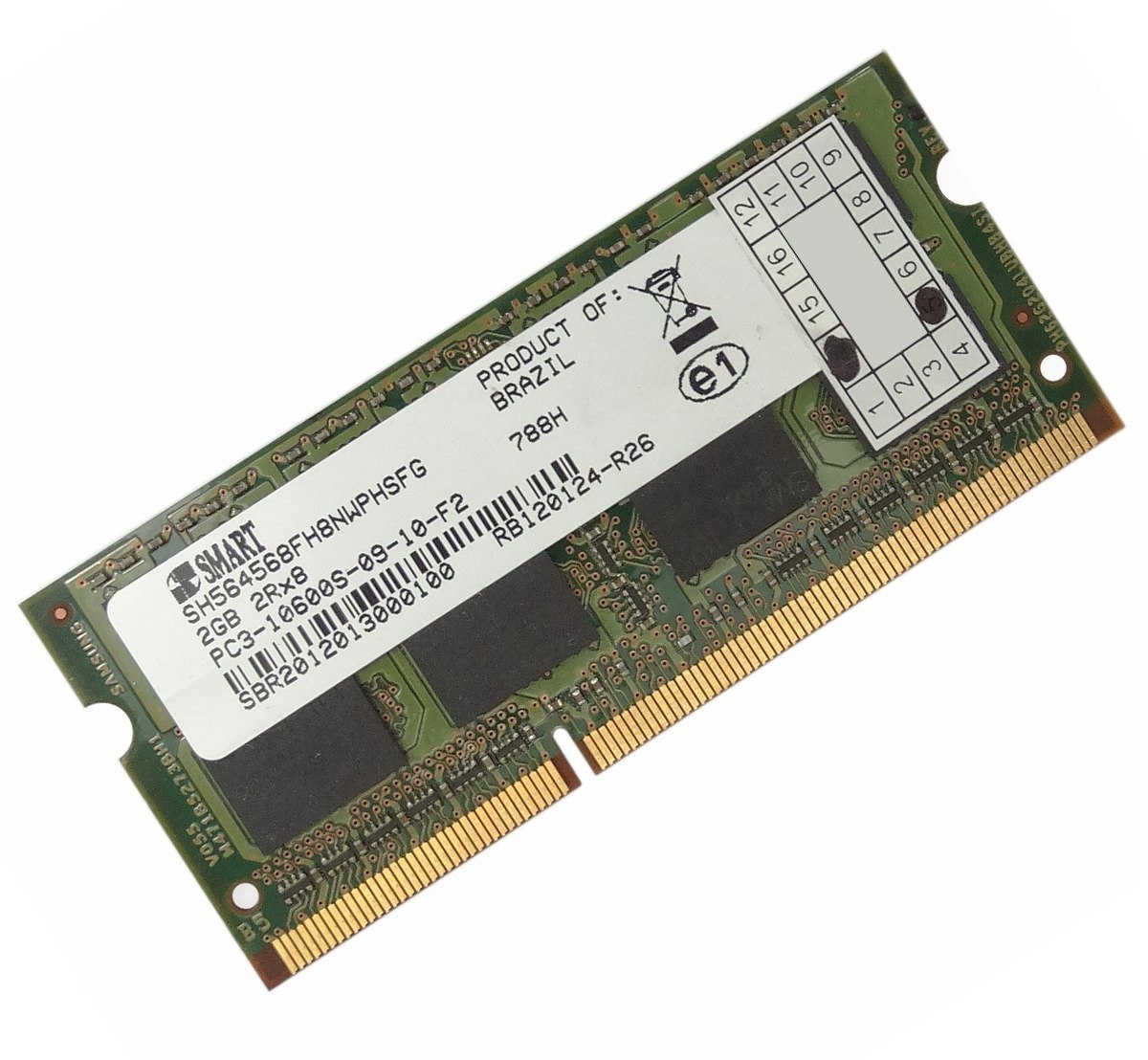 Memória de Notebook 2GB DDR3 1333Mhz  SH564568FH8NWPHSFG - Smart
